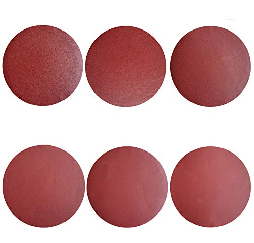 Sackorange 60 PCS 5-Inch NO-Hole PSA Aluminum Oxide Sanding Disc, Self Stick(10 Each of 80 100 120 180 240 400)(5 inch)