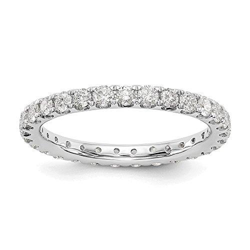 Oro bianco 14K True origine lab-grown Diamond Eternity Band Ring, VS/e- 1.05Cttw