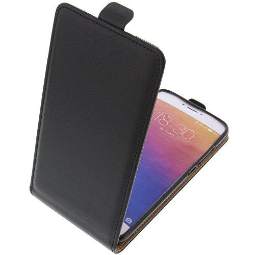 foto-kontor Tasche für Meizu Pro 6 Smartphone Flipstyle Schutz Hülle schwarz