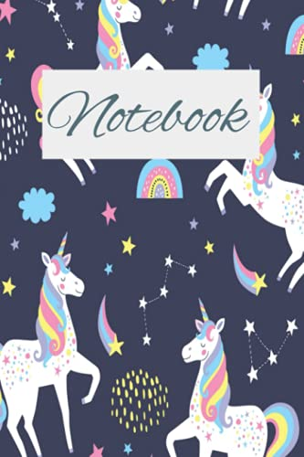 Composition notebook unicorn, cute journal for girls