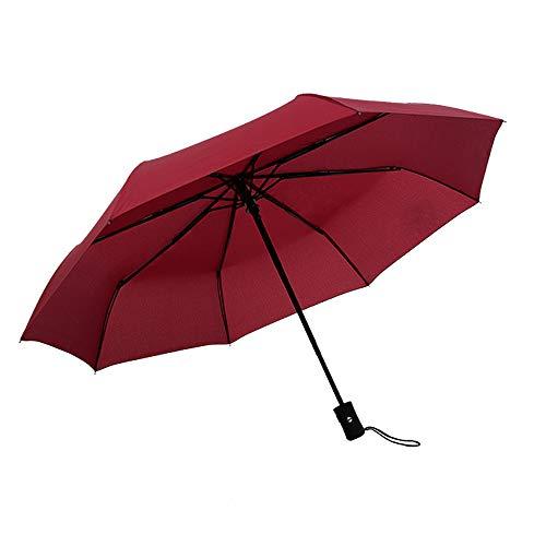 JUNDY Paraguas Compacto y Resistente al Viento, Paraguas...