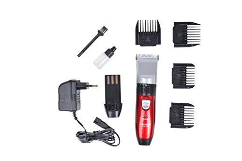 Akku Haarschneider Zürich - Haarschneidermaschine Bartschneider mit vielen Aufsätzen - für den Profi Friseur-Bedarf und Rasieren geeignet, mit leisem, starkem Motor, Netz + Akkubetrieb