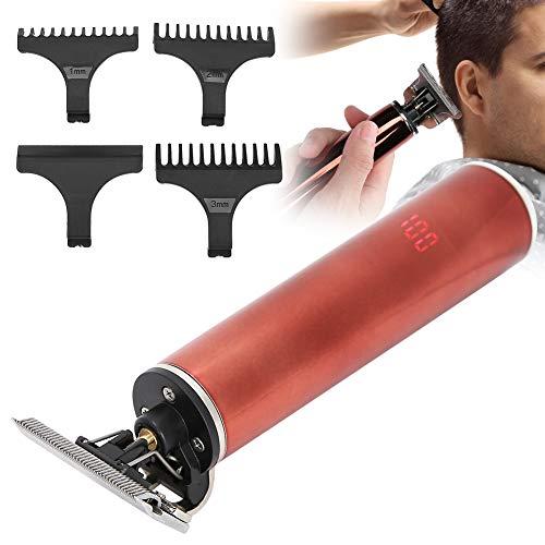 Pwshymi Cortadora de Pelo Recargable con Pantalla LCD, cortadora de Pelo para el hogar, cortadora de Pelo eléctrica para peluquería, Uso en peluquería para Hombres(Red)