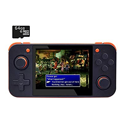 BITTBOY RetroGame RG350 Black Retro Gaming Portable Handheld Console OpenDingux CFW IPS Display 2500mAh Battery [RG-350-B]