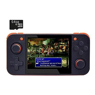 ANBERNIC RetroGame RG350 Black Retro Gaming Portable Handheld Console OpenDingux CFW IPS Display 2500mAh Battery [RG-350-B]