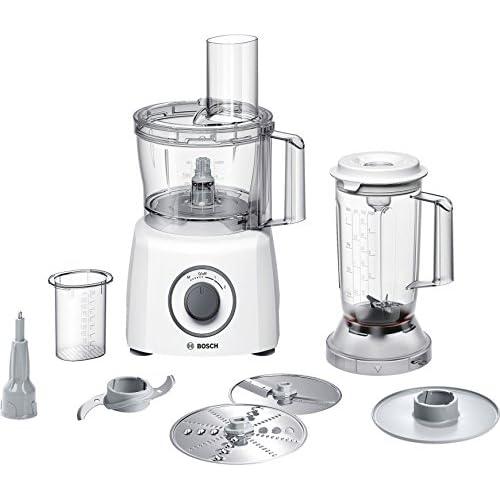 Bosch MCM3200W MultiTalent 3 - Robot da Cucina Compatto, 800W, Bianco/Grigio 375 x 220 x 260mm