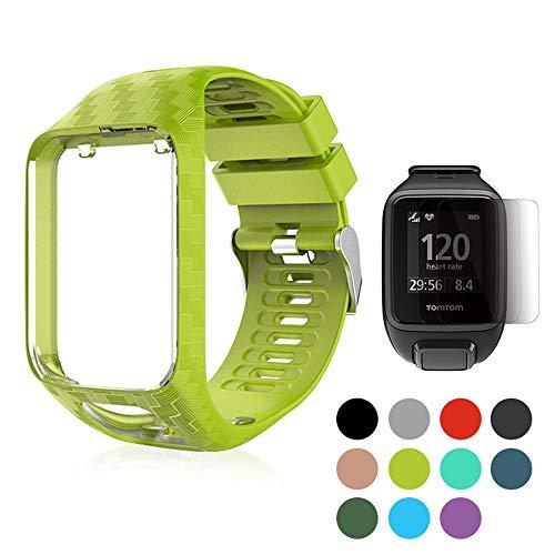 Womdee Ersatz-Armband für Tom Tom, Tom Tom Watchband, weiches Silikon, Sportarmband für Tom Tom Adventurer/Runner 2/Runner 3/Spark 3/Golfer 2 Style 6