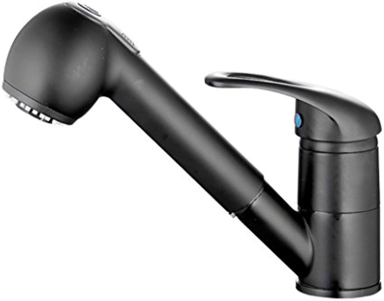 Wasserhahn Vollkupfer-Küchenhahn Schwarzer Pump-Wasserhahn Umschaltbarer Wasserhahn (Stil   2)