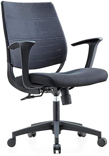 Silla de ordenador para el hogar, plegable, giratoria, elevación, ergonómica, beige, naranja, color: morado (color: amarillo) sillón (color: negro)