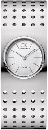 Calvin Klein K8323120 - Reloj analógico de Cuarzo para Mujer con Correa de Acero Inoxidable, Color Plateado