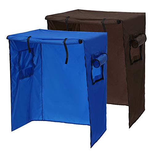 Funda para jaula de pájaros, loro, jaula de pájaro, cubierta para jaula de pájaro, resistente al polvo, con cremallera, gran funda protectora para jaula de pájaros, impermeable, anti rayos UV