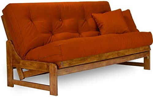 Arden Futon Frame - Full Size, Solid Hardwood