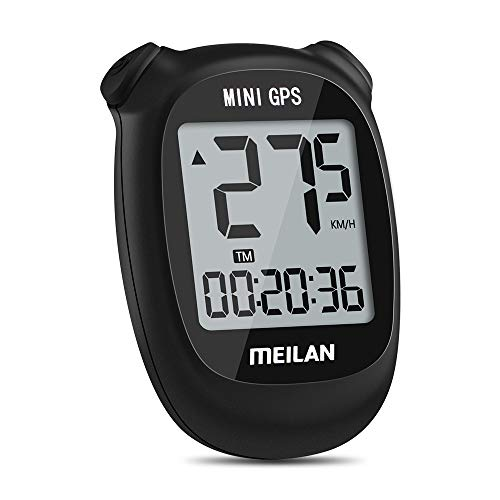 Meilan M3 Mini GPS Bike Computer, Wireless Bike Odometer and Speedometer Bicycle Computer IPX6 Waterproof Cycling Computer with LCD Display for Outdoor Men Women Teens Bikers (Black)