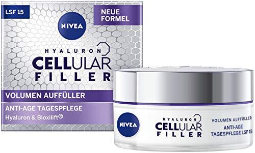 NIVEA Hyaluron Cellular Filler Volumen Auffüller Tagespflege Creme LSF 15 (50 ml), auffüllende Anti Age Gesichtspflege mit Hyaluronsäure, aufpolsternde Anti Falten Feuchtigkeitspflege