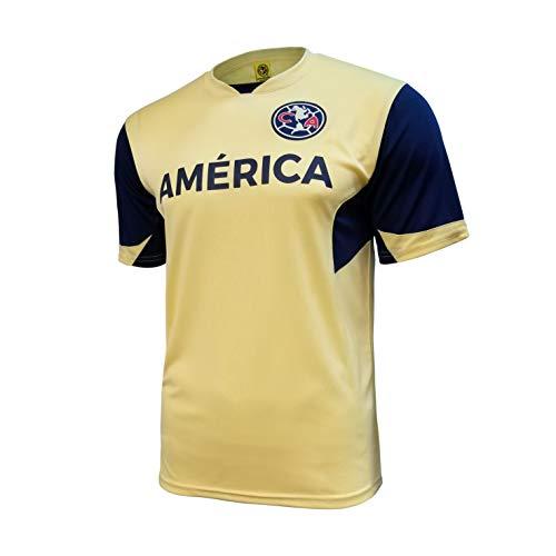 Icon Sports Mens Legend Short Sleeve Game Polyshirt Federación Mexicana de Fútbol Asociación Club América, Alternate, Small