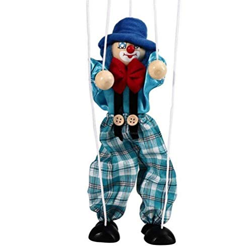 GFPR Pull String Puppet Kinder Holz Marionette Spielzeug für Eltern-Kind Interaktives Spielzeug, 43cm Marionette - D