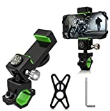 Bike Phone Mount,【Super Stable & Anti Shake】 Anti-Theft Screw Design, Bicycle & Motorcycle Handlebar Cell Phone Holder Universal, for 4-7 inches Android Cell Phones and GPS
