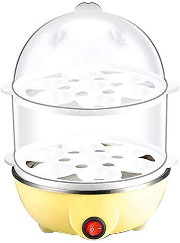 XYNB Doppelschicht Eierkocher Edelstahl Mit Dampfgarer Gesundes Kochen Mode Lebendige Eierkocher Eierkocher Design Für Gesundes Tägliches Camping (Farbe, Gelb, Größe, Größe), Gelb, Größe