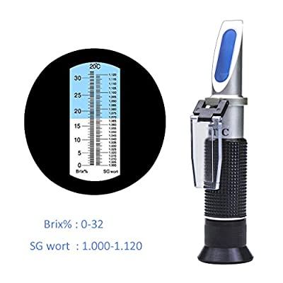 OROROW Brix Meter Refractometer Digital Hand Held Refractometers with Automatic Temperature Compensation for Sugar Content Measurement - Brix Scale Range 0 ~ 32%