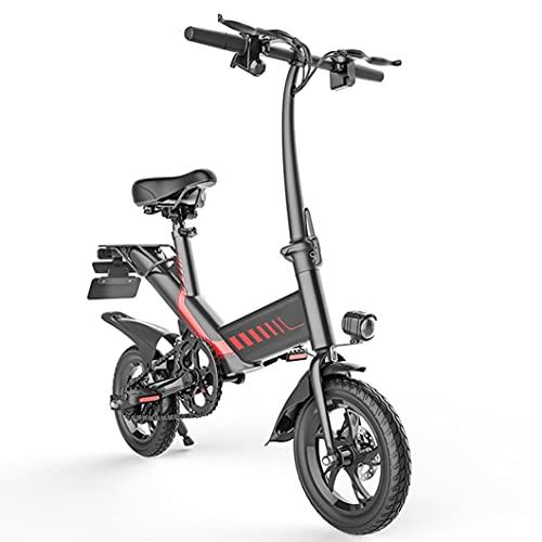 Bicicletas Eléctricas, Bicicleta Eléctrica Plegable de 12 '' para Adultos y Adolescentes, Bicicletas Eléctricas con Motor con Acelerador Y Asistencia de Pedal de Batería de Iones de Litio Extraíbles d