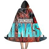 YRUI N-B-A Young-Boy Ai Nash - Capa con capucha para niños, disfraz de Halloween, color negro