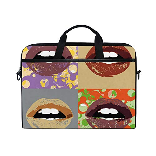 VICAFUCI New 15-15.4 Zoll Laptop Tasche,Umhängetasche,Handtasche,Dunkler Lippenstift auf...