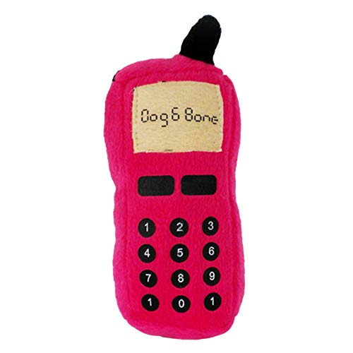 Dog Accessories,Pet Dog Puppy Funny Cellphone Shape Plush Doll Playing Training Chew Squeaky Toy Pet Gift for Small Medium Large Dog