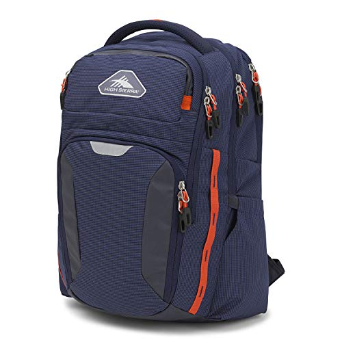 High Sierra Autry Backpack, 15.5-inch Laptop Backpack, Ideal for High School and College Students Maritime/Redline
