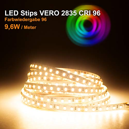LED Streifen VERO Mextronic LED Streifen LED Band LED Strip VERO Warmweiß (3000K) CRI 96 48W 5 Meter 24V IP20
