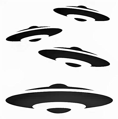 Alien Spaceships Reusable Sturdy Stencil Clear Custom Cut Plastic Sheet Template Cutout Sign DIY Supplies for Airbrush Painting Drawing 1-5.5x5.5 inch