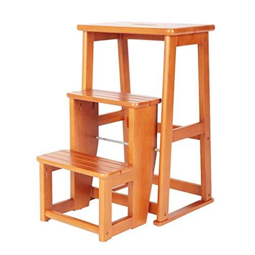 ZHAS Escalera de Taburete Plegable de 3 escalones, Silla de Escalera para el hogar Escaleras de Tijera de…