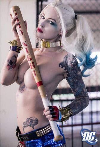 Margot Robbie Harley Quinn Selbstmordkommando New Silk Poster Wanddekor Raummalerei 30x45cm