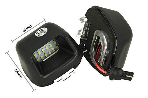 CARALL LE3404 Lot de 2 éclairages de plaque d'immatriculation à LED 12 V 3 W Blanc Canbus Compatible avec Nissan Navara D40