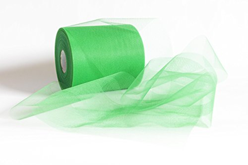 Chance SAS Bobina Tulle, Verde Mela, 12,5 cm x 100 m