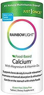 Rainbow Light Food Based Calcium Tablets, 180 Count
