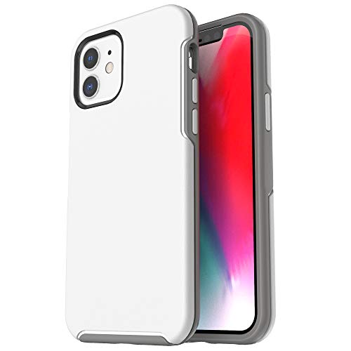 Krichit Ongoing Series Compatible with iPhone 12 Mini case (2020), Anti-Drop and Shock-Absorbing case Compatible with 5.4-inch iPhone 12 Mini case (White)