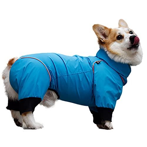 Chubasquero ligero, ajustable con correas reflectantes y agujero para el arnés, para perros, de color amarillo; el mejor regalo para galgos, Lurcher y Whippet