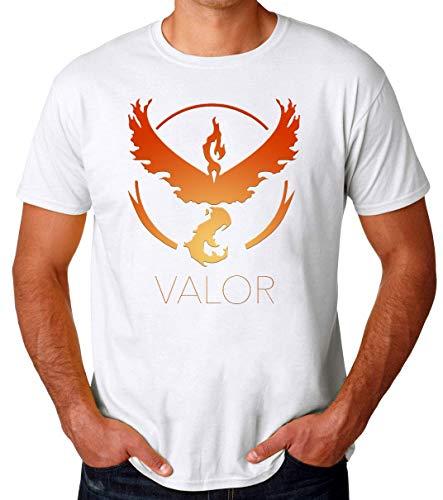 Moltres | Valor Team | Anime Series | Manga | Pokemon Ball | Pokemon Go | Adventure | Cool T Shirt | Nice To | | Popular | Joke | Swag Camiseta para Hombres Large