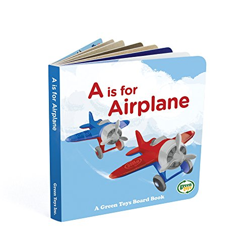 Green Toys Airplane & Board Book (color may vary)