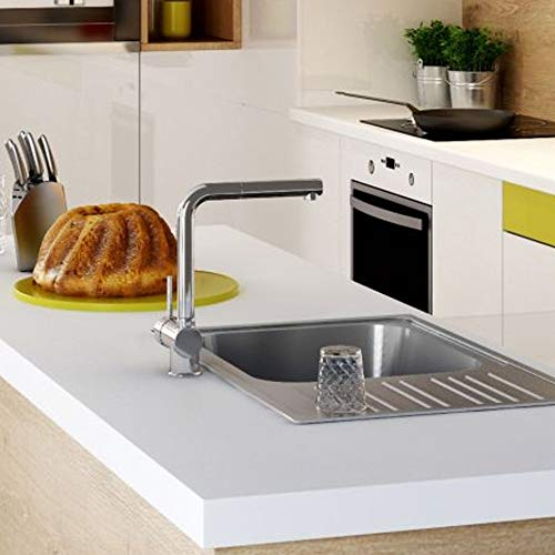 Designer ASTER keukenkraan met uittrekbare uitloop chroom L-uitloop keukenkraan waterkraan gootsteenarmatuur wastafelarmatuur eengreepsmengkraan mengkraan wastafelkraan keuken