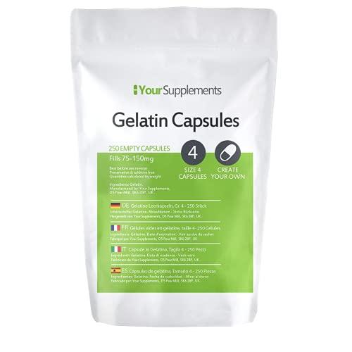 Lege gelatinecapsules   Maat 4 (250)