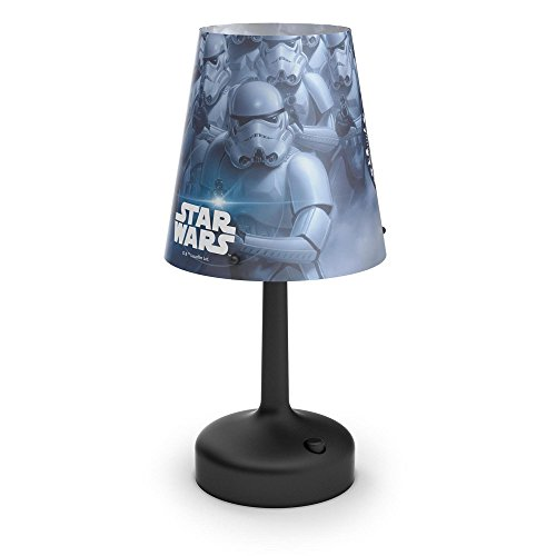 Philips Star Wars Stormtroopers Lampe de Chevet Portable à Piles LED Plastique Noir 26 x 10 x 10 cm