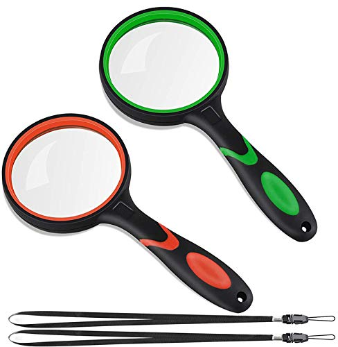 10X Magnifying Glass Handheld Reading Magnifier, 75mm...