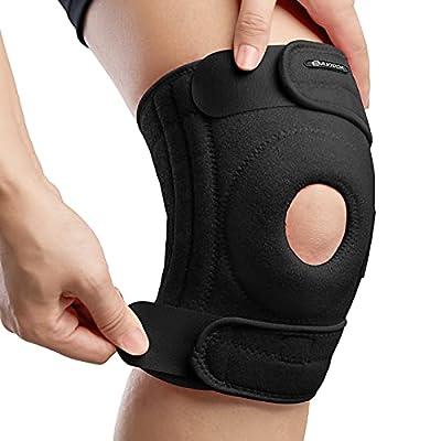 "AVIDDA Knee Supports, Open Patella Knee Brace for Men Women, Fully-Adjustable Neoprene Knee Braces for Joint Pain, Sports, Walking, Running, Black Large (18.5"" to 22.5"")"