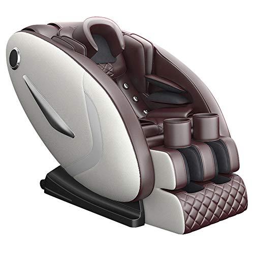 NCBH Massage Sessel für Zuhause, Massagestuhl, Massagestuhl - Professionelles Relax Sofa Armchair 3D Shiatsu mit 28 Massageprogrammen - Luftmassagesystem - 0 Schwerkraft,White + Brown