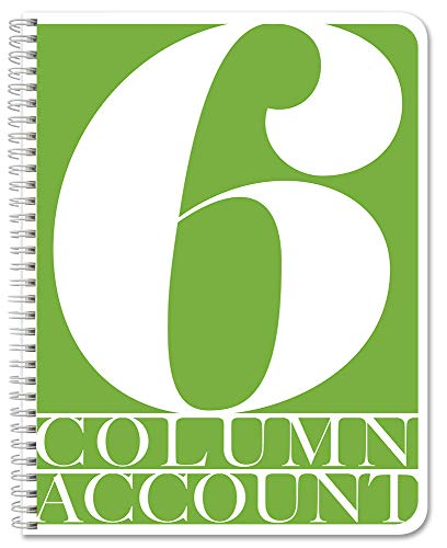 BookFactory 6 Column Account Book/Ledger Book/Accounting Ledger/Notebook (6 Columnar Book Format) - 100 Pages, 8.5