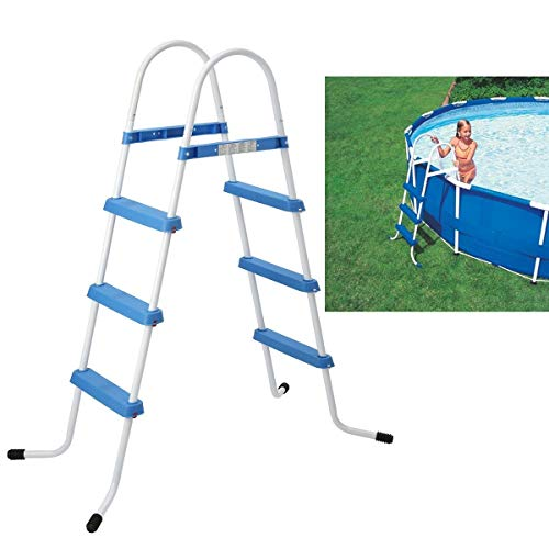 FiNeWaY 3 STEP BLUE POOL LADDER STEPS FOR INFLATABLE PADDLING SWIMMING POOL...