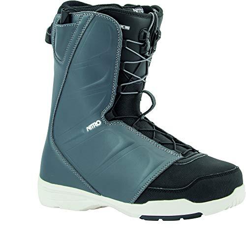 Nitro Snowboards Vagabond TLS '20 All Mountain Freestyle Bottes de Snowboard pour Homme Bleu Marine/Blanc 28,5