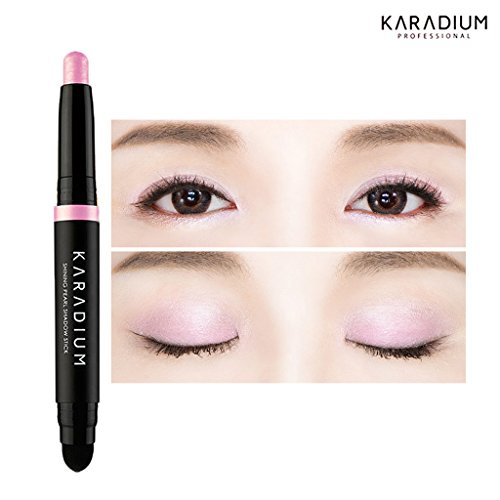 KARADIUM Shining Pearl Smudging Eye Shadow Stick 1.4g (#2 Ice pink) - Waterproof Long Lasting Daily Eye Makeup Eye Shadow Stick, Creamy Texture, Easy to Draw, Hypoallergenic for Sensitive Eyes
