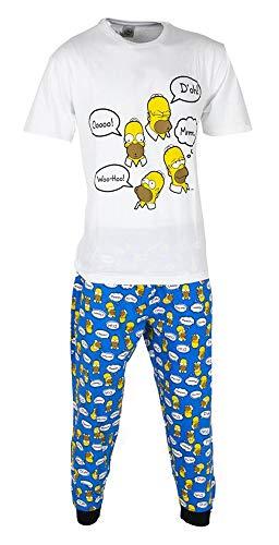 The Simpsons Homer - Pijama para hombre o niño, talla S-XL, multicolor, S
